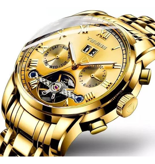 Luxo Mens Relógios Tevise Tourbillon