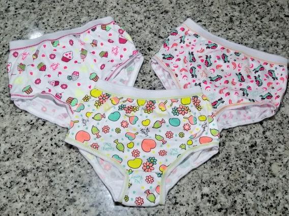 Set De 3 Pantaletas Para Niñas