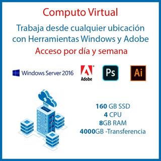 1 Semana De Computo Remoto Windows Y Adobe - 8gb Ram - 4cpu