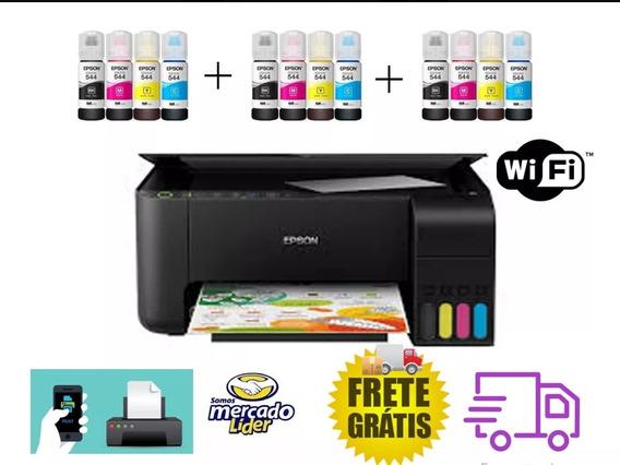 Multifuncional Epson L3150 + Frete Gratis + 12 Tintas Extra