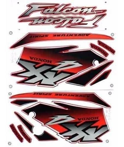 Jogo Adesivo Nx4 Falcon 2001 Vermelha - Frete R$9.90