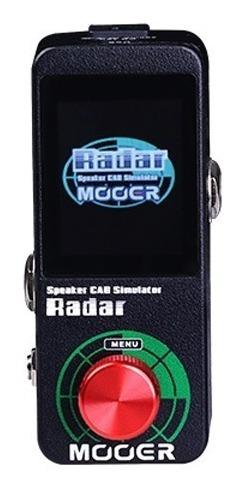 Pedal Mooer P/ Guitarra Simulador De Caixa Radar Ms1 Pd1108