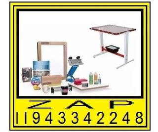 Maquina Para Estampar Kit Silk Screen Completo Estamparia