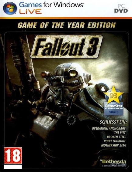 Fallout 3 Pc - Steam Key (envio Rápido)