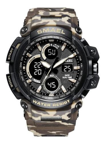 Imagem 1 de 5 de Relógio De Pulso Smael Militar Shock Original + Nf Garantia