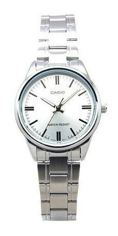 Reloj Casio Ltp-v005d-7a Acero Inoxidable Plateado Mujer