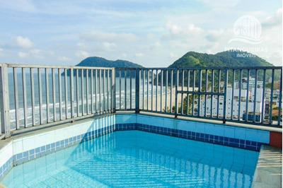 Cobertura Com 3 Dormitórios À Venda, 170 M² Por R$ 1.500.000 - Tombo - Guarujá/sp - Co0218