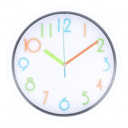 Reloj De Pared Free Home Redondo Letras Multicolor R Tk452