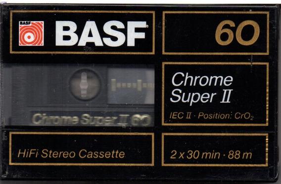 Fita K7 Chrome Super Ii C60 Basf Lacrada 2 Unidades !!!