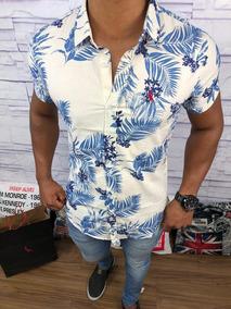 Kit Com 2 Camisas Masculina Floral