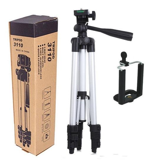 Tripé Flexível Câmera E Celular Profissional Universal 1,0mt