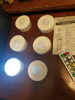 Luces Led Puck Lights Con Remote Control
