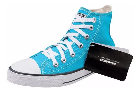 Tênis Converse All Star Cano Alto Original Azul Turquesa