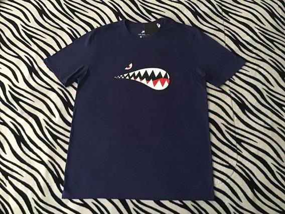 Playera Nike Air Force 1 Shark (talla L) 100% Original Azul