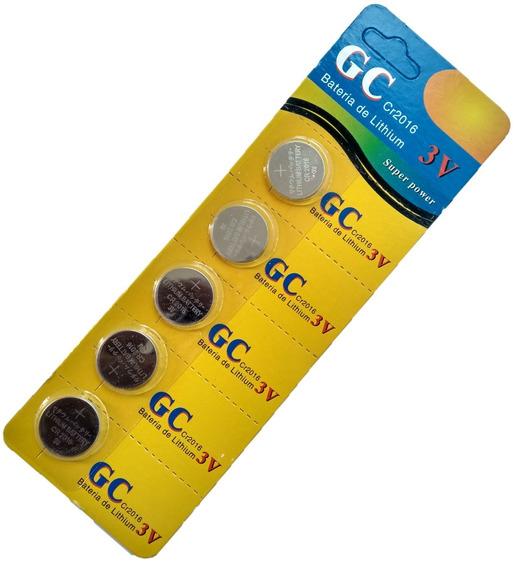 Bateria Lithium Cr2016 3v Cartela C/ 05 Unidades Fretegratis