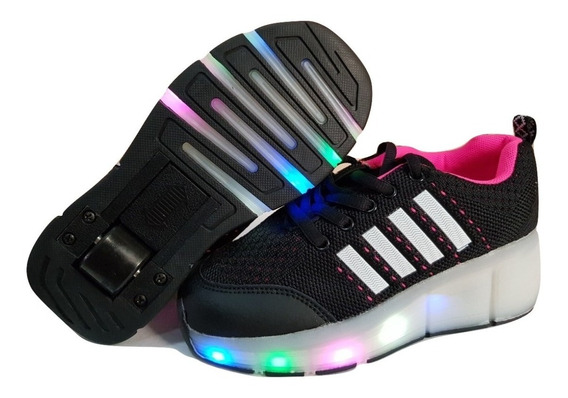 Zapatillas Con Rueda Y Luces Led Colore Varios Unixes E.grat