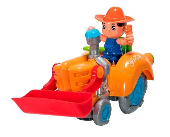 Hf Juguetes Tractor Granjero Musical Barato Niño Bebe 119440
