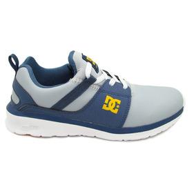 Tenis Dc Shoes Heathrow Se Youth Adbs700049 Bgc Blue Gr Piel