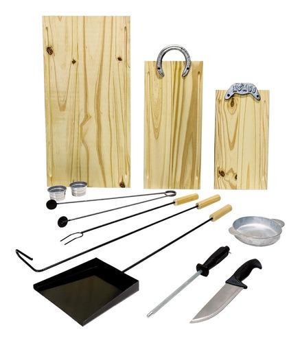 Herramientas Asado Asador Juego De Parrilla Kit X13  1032