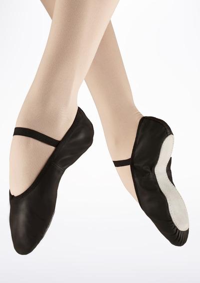 Sapatilha Básica Ballet Bailarina Em Korino Preto