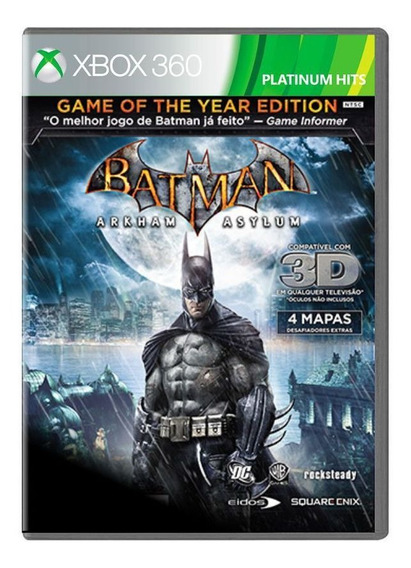 Jogo Batman Arkham Asylum Goty Platinium Hits - Xbox 360