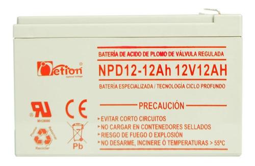 Batería 12v 12ah Netion Agm Ciclo Profundo
