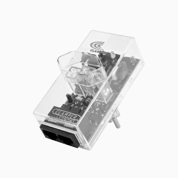 Dispositivo De Proteção Contra Raios E Surtos Elétricos Dps Energia + Rede Ethernet Clamper
