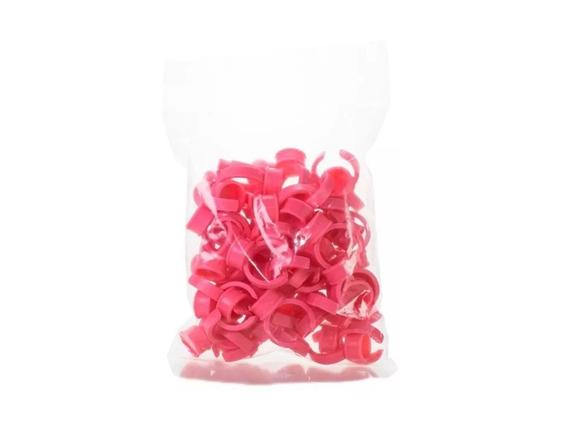 Anéis Batoque Descartável Pacote Com 100 Unidades Rosa Preto