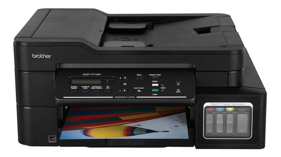 Impresora a color multifunción Brother DCP-T7 Series DCP-T710W con wifi 110V negra