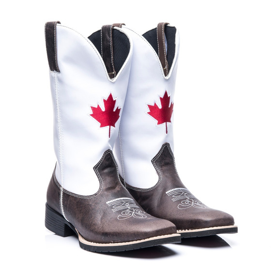 Bota Texana Masculino Em Couro Legitimo Canadá