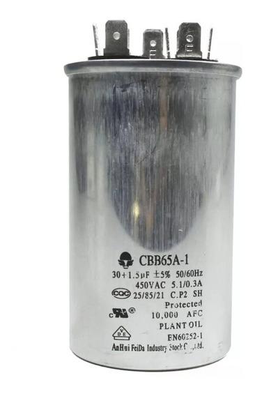 Capacitor Para Ar Condicionado Eae42718009 30+1.5uf 450vac