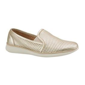 Zapato Confort Flexi 8210 De Dama Color Oro Comodos