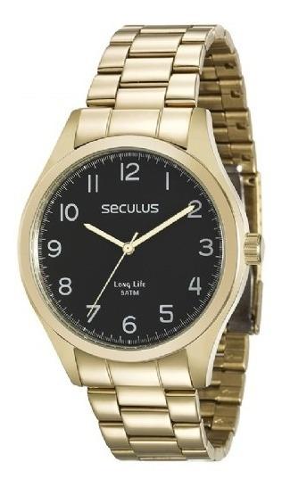 Relógio Seculus Masculino 28920gpsvda2