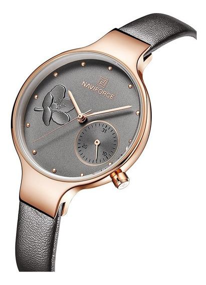 Relógio Feminino Naviforce Fashion Luxo Lançamento Original