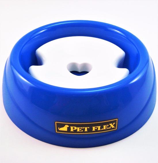 Bebedouro P Azul P/ Cachorro Pelo Longo,s/ Pingos Pelo Chão