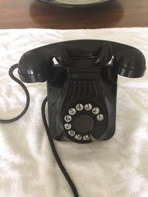 Telefone De Parede Antigo Década 50 Baquelite