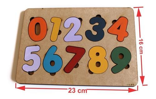 Brinquedo Tabuleiro Número Educativo Pedagógico Mdf