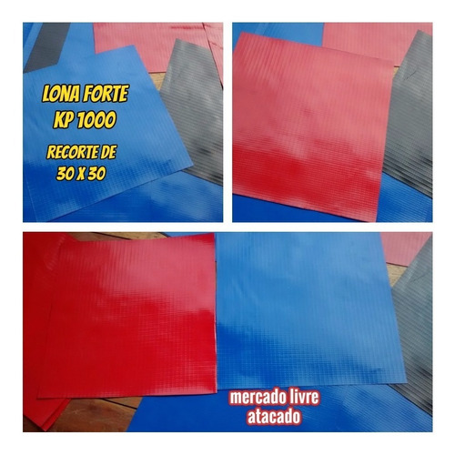 Imagem 1 de 10 de Kp1000 Lona Forte P/brinquedos Inflavéis Conserto Reparo