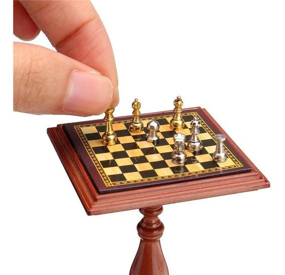 Jogo De Xadrez Em Miniatura 1:12