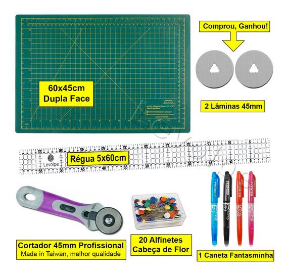 Kit Base De Corte 60 + Régua 60 +cortador 45mm Patchwork Top
