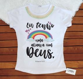Camiseta Feminina Blusa T-shirt Gospel Evangelica Deus 2019