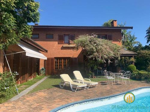 Imagem 1 de 15 de Ótima Casa De 4 Dormts. Confortável, Terreno Grande Condomínio Palos Verdes - W1543