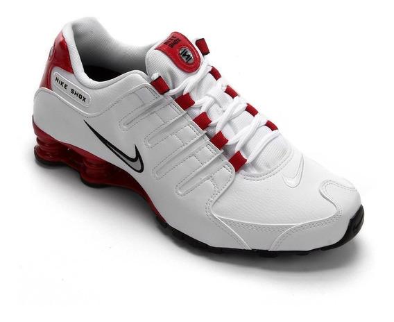 Tênis Nike Shox Nz Masculino - Branco E Vermelho