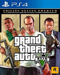 Gta V Grand Theft Auto 5 Ps4 Premium Edition Fisico Selado!