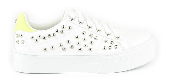 Tenis Urbanos Para Mujer Lob Footwear 656-9628 Blanco Nuevo Oi19