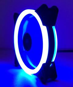 Cooler Fan Dupla Face 120mm C/30led Azul P/gabinete Pc Cpu