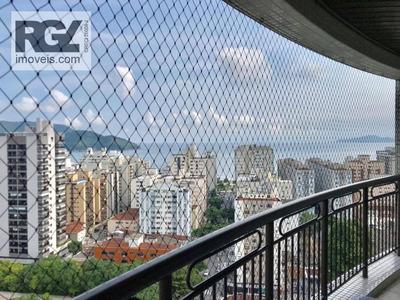 Apartamento Com 3 Dormitórios À Venda, 185 M² Por R$ 1.300.000 - Aparecida - Santos/sp - Ap5100