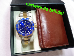 Relógio Submariner Azul Cerâmica A Pronta Entrega!