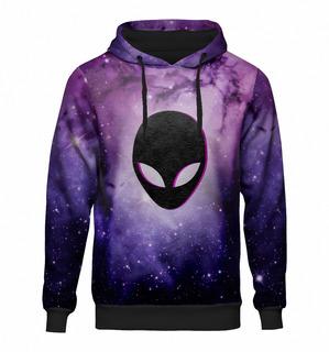 Blusa Moletom Capuz Galaxia Tumblr Universo Galaxy Alien Et