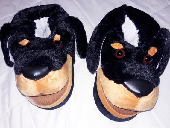 Pantuflas Hombre Peluche Dog No Unicornio Talle Unico Importadas